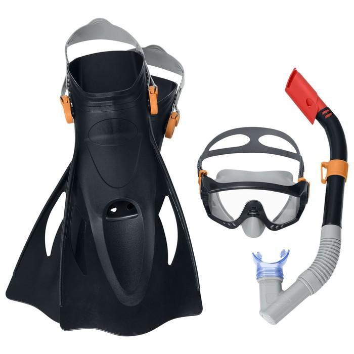 Набор для плавания Meridian, для взрослых, 3 предмета: маска, ласты, трубка, цвет МИКС Bestway