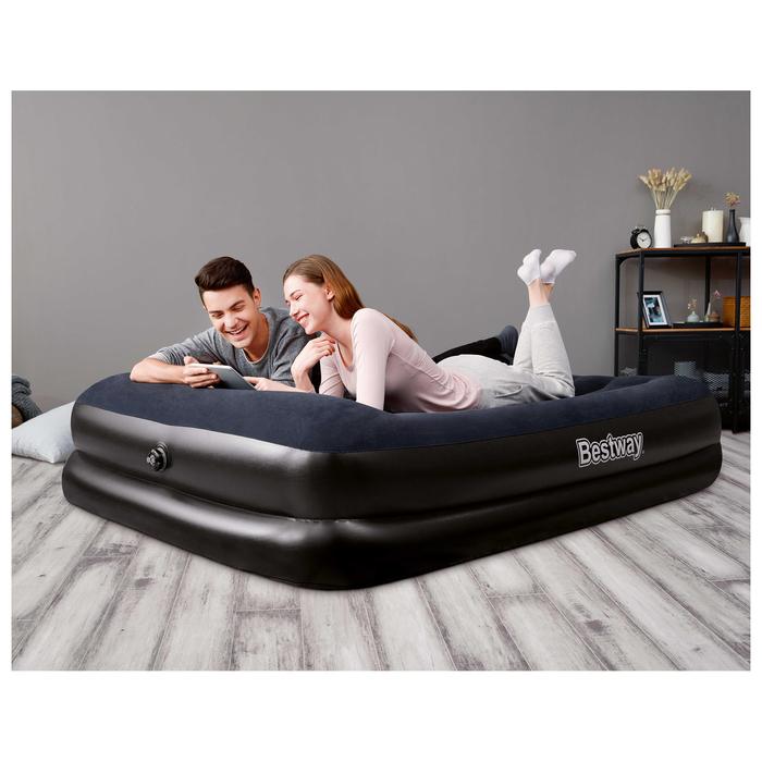 Кровать надувная 203х152х46 см, электронасос в комплекте( 67345) Bestway