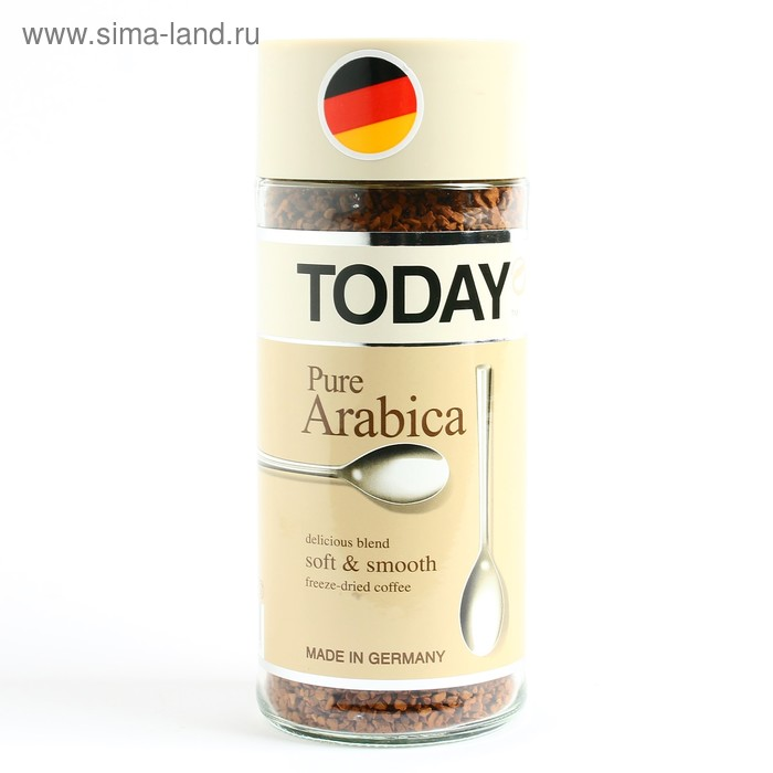 Кофе Today Pure Arabica, натуральный растворимый, сублимированный, 95 г