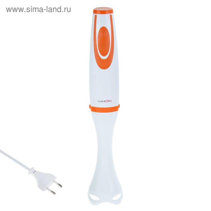 Блендер погружной LuazON LBR-03, 500Вт,  бело-оранжевый