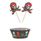 """Украшение для кексов """"Пират"""", набор 24 пики, 24 формочки"""