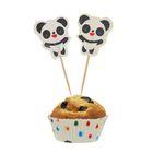 """Украшение для кексов """"Панда"""", набор 24 пики, 24 формочки"""