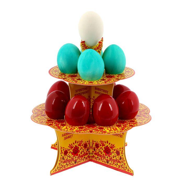 """Подставка пасхальная на 12 яиц """"ХВ"""""""