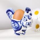 """Сувенир """"Петух"""", подставка под яйцо, гжель кобальт"""