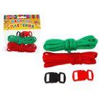 Набор плетения из тесьмы + 4 крепления, длина 1 шт. — 1,2 м, цвета зелёный, красный