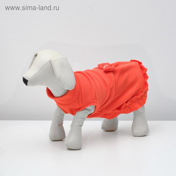 Платье флисовое, L (дс-32 см, ош-32 см, ог-40 см), микс
