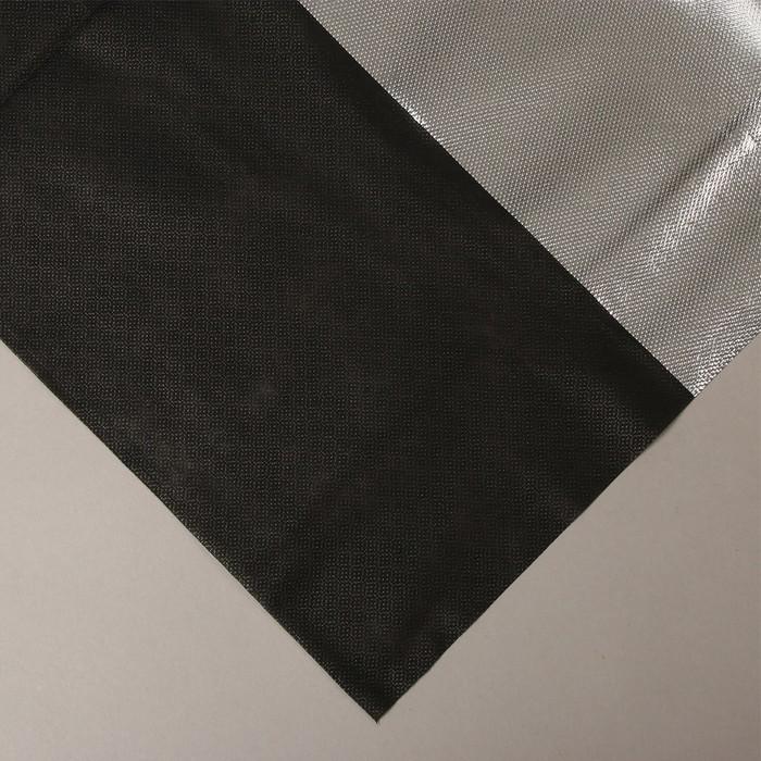 Материал мульчирующий, 5 × 1,6 м, плотность 90, с УФ-стабилизатором, фольгированный, серебристо-чёрный, «Агротекс»