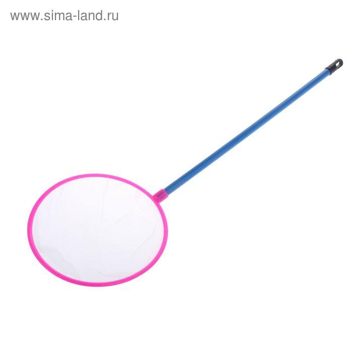 Сачок круглый 18 см, пластиковая ручка, микс цветов