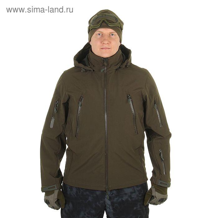 Куртка с капюшоном для спецназа демисезонная МПА-26 (тк.софтшелл) хаки (52/5)