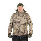 Куртка с капюшоном для спецназа демисезонная МПА-26 (тк.софтшелл) КМФ песок (50/5)