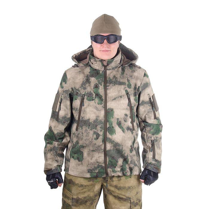 Куртка с капюшоном для спецназа демисезонная МПА-26 (тк.софтшелл) КМФ мох (54/5)