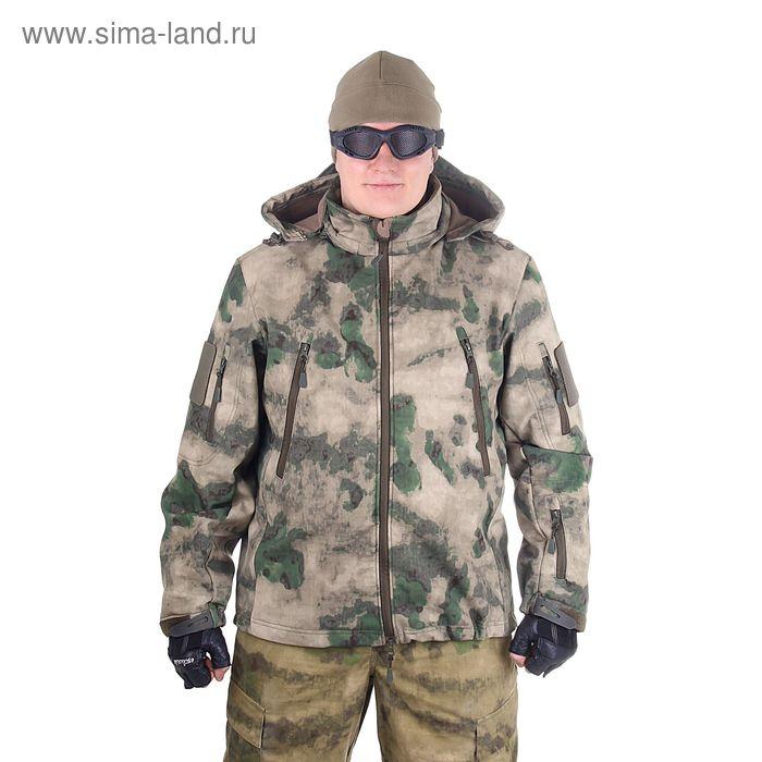 Куртка для спецназа демисезонная с капюшоном МПА-26-01 (тк.софтшелл) КМФ мох (50/4)