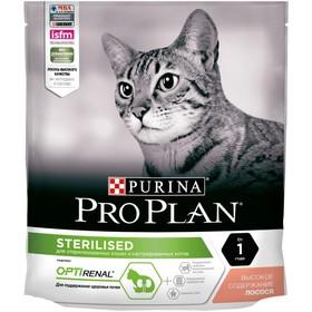 Сухой корм PRO PLAN для кошек, лосось/рис, 400 г