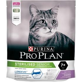 Сухой корм PRO PLAN для стерилизованных кошек старше 7 лет,  индейка, 400 г