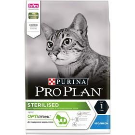 Сухой корм PRO PLAN  для кастрированных котов и стерилизованных кошек, кролик, 3 кг