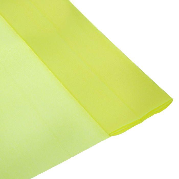 Бумага крепированная 50*250см 32 г/м Желтая в рулоне Школа талантов (80-30)