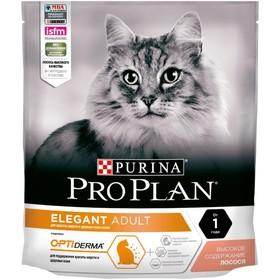 Сухой корм PRO PLAN для кошек с чувствительной кожей, лосось, 400 г