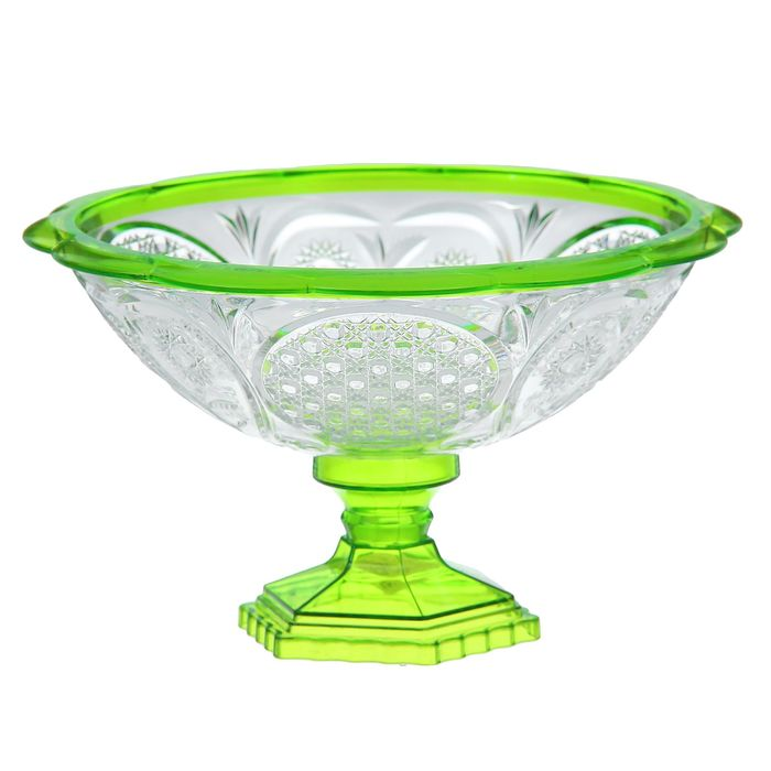 """Ваза 19 см, малая """"Хрусталь"""", цвет прозрачно-зеленый"""