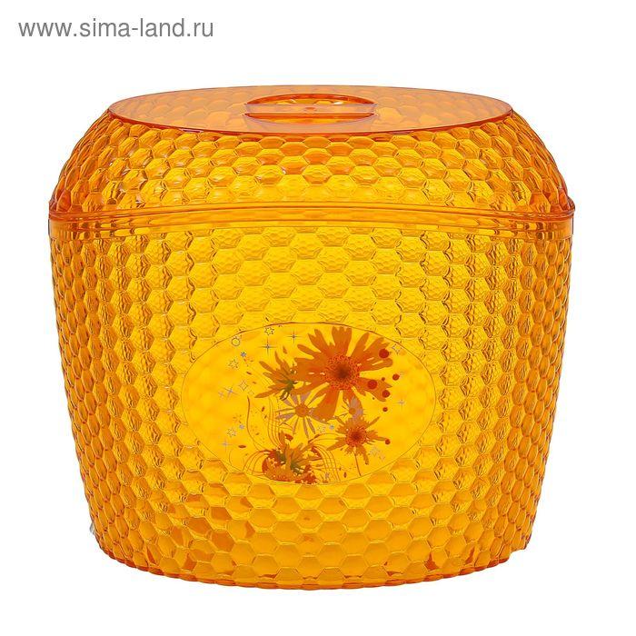 """Ёмкость для сыпучих продуктов 3 л """"Мозаика"""" , цвет оранжевый"""