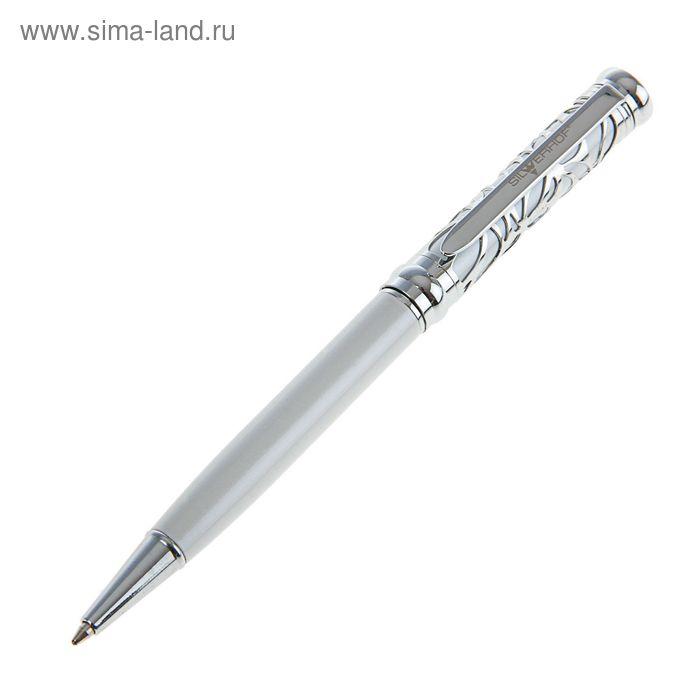 Ручка подарочная Silwerhof GRACEFUL, корпус перламутр белый с лазерной вырубкой