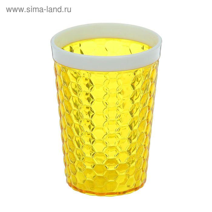 """Стакан 300 мл """"Мозаика"""", цвет желтый"""