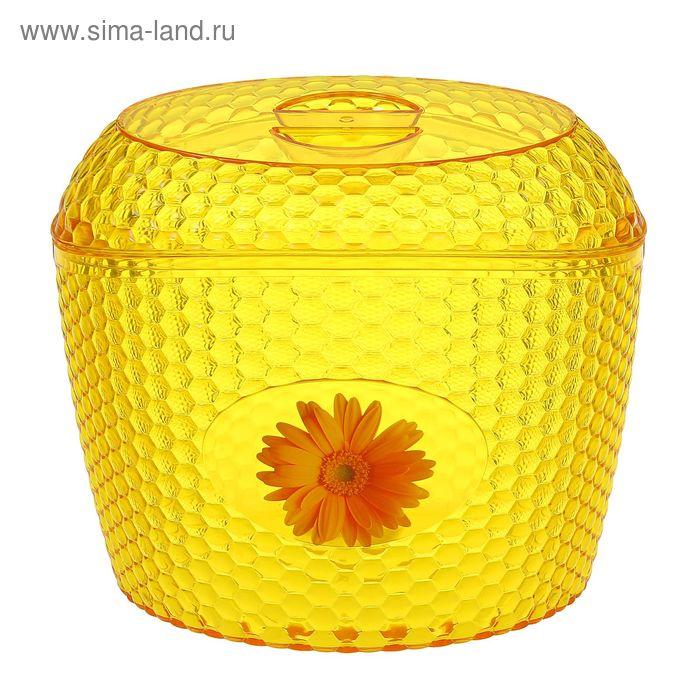 """Ёмкость для сыпучих продуктов 3 л """"Мозаика"""" , цвет желтый"""