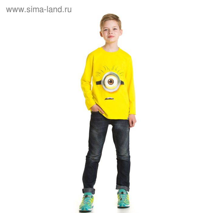 """Джемпер для мальчика """"Миньоны """", рост 116 см (64), цвет желтый ZB 03138_Д"""