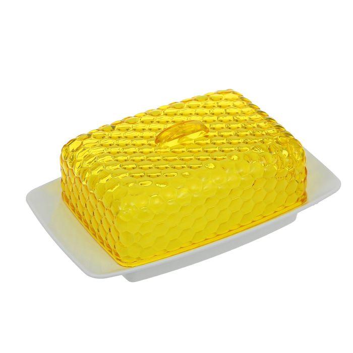 """Масленка """"Мозаика"""", цвет желтый"""