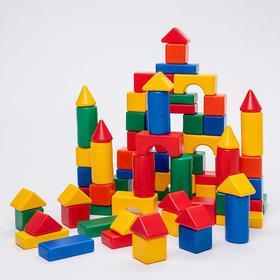 Building set, 72 item 6 x 6 cm