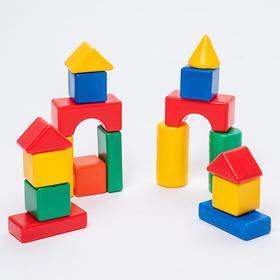 Building set, 18 elements, 6 x 6 cm