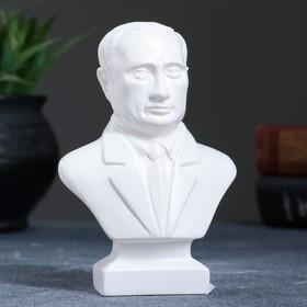 Бюст Путин малый белый, 5х8х13см