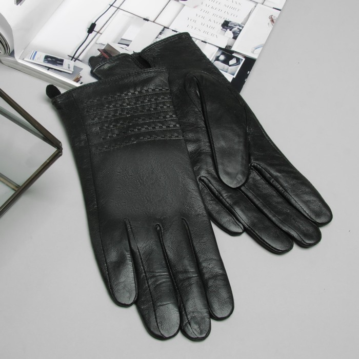 """Перчатки женские Collorista """"Стиль"""", размер 8, M, цвет чёрный"""