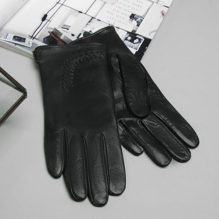 """Перчатки женские Collorista """"Веточка"""", размер 7, S, цвет чёрный"""