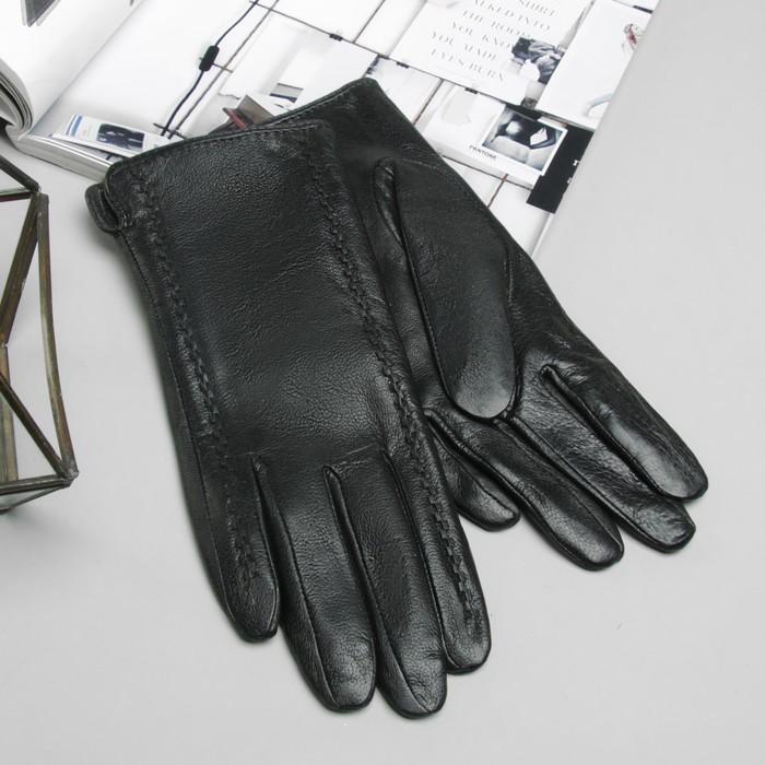 """Перчатки женские Collorista """"Окантовка"""", размер 8, M, цвет чёрный"""