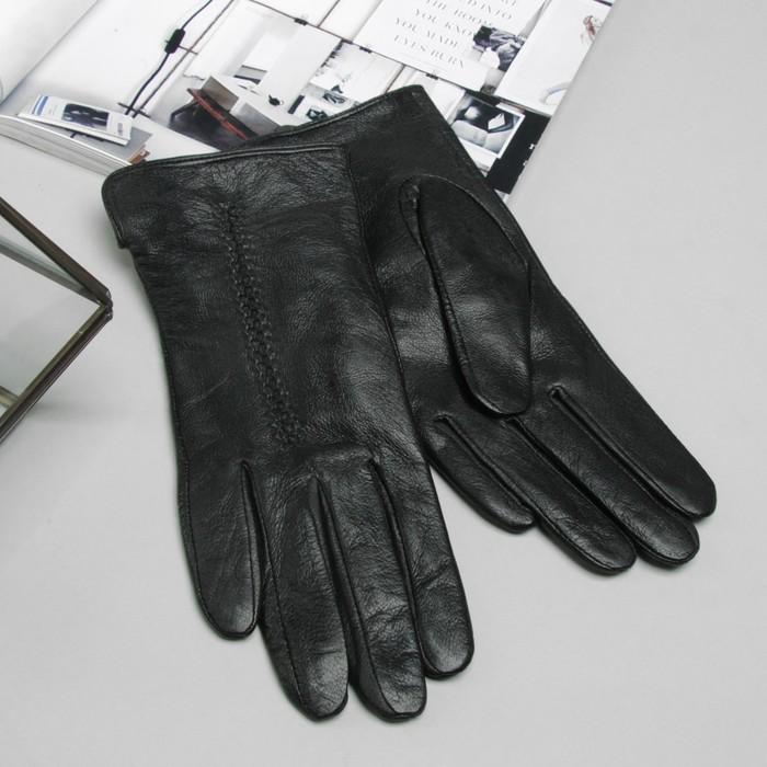 """Перчатки женские Collorista """"Полоска"""", размер 7, S, цвет чёрный"""