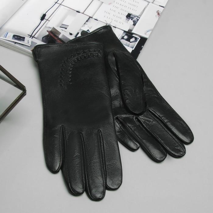 """Перчатки женские Collorista """"Веточка"""", размер 8, M, цвет чёрный"""