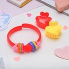 """Children set """"Vibracula"""" 3 items: 2 crab, bracelet, heart, MIX color"""