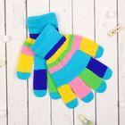 """Перчатки детские Collorista """"Пальчики"""", размер 22 (р-р произв. 19), цвет голубой"""