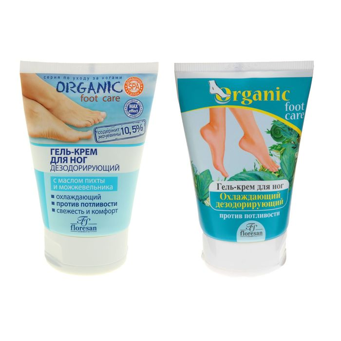 Гель-крем для ног Охлаждающий дезодорирующий против потливости 100 мл