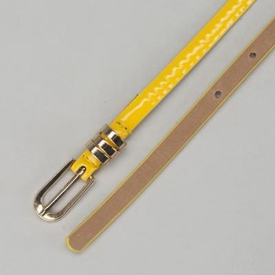 """Ремень женский """"Классика"""", ширина - 1см, лакированный, жёлтый"""