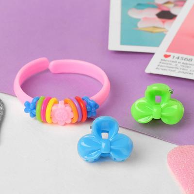 """Children set """"Vibracula"""" 3 items: 2 crab, bracelet, bowknot, MIX color"""