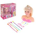 """Кукла-манекен для создания причёсок """"Фэшн"""" с аксессуарами, БОНУС - наклейки, книга по созданию макияжа"""