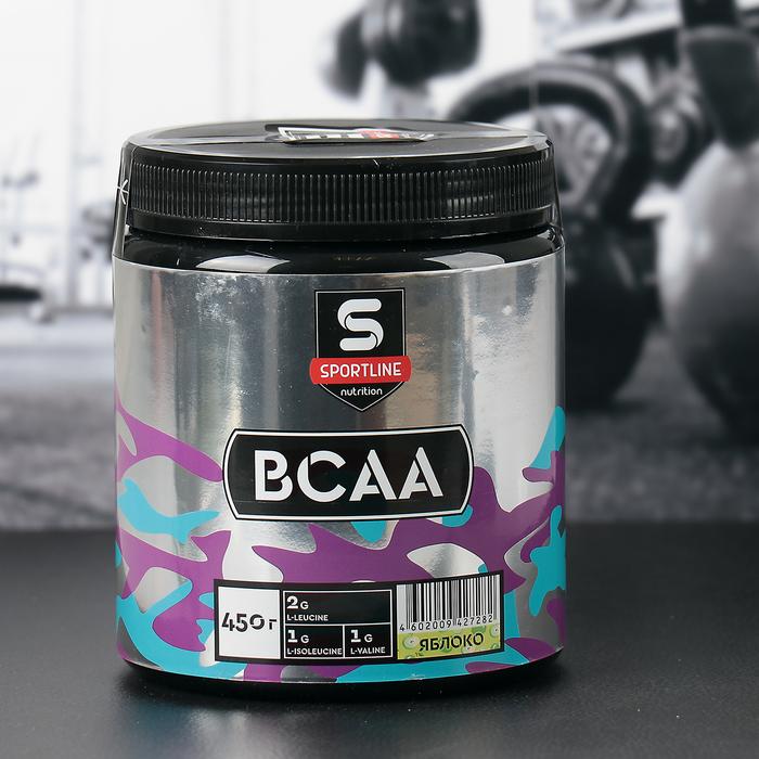 Аминокислоты SportLine BCAA, яблоко, 450 г