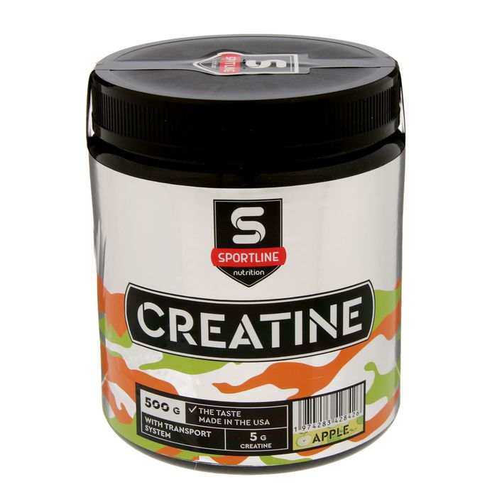 Креатин SportLine Creatine with Transport System 500g (Яблоко)