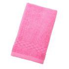 Полотенце Collorista однотонное, цвет светло-розовый, размер 40х70 см +/- 3 см, 400 гр/м2