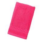 Полотенце Collorista однотонное, цвет розовый, размер 40х70 см +/- 3 см, 400 гр/м2