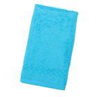 Полотенце Collorista однотонное, цвет голубой, размер 50х90 см +/- 3 см, 400 гр/м2