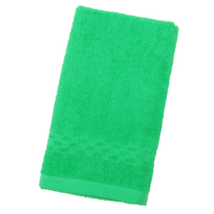 Полотенце Collorista однотонное, цвет зелёный, размер 40х70 см +/- 3 см, 400 гр/м2