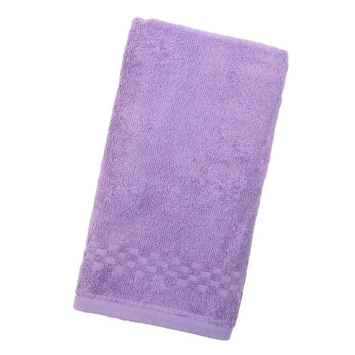 Полотенце Collorista однотонное, цвет фиолетовый, размер 50х90 см +/- 3 см, 400 гр/м2