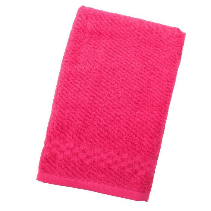 Полотенце Collorista однотонное, цвет розовый, размер 50х90 см +/- 3 см, 400 гр/м2